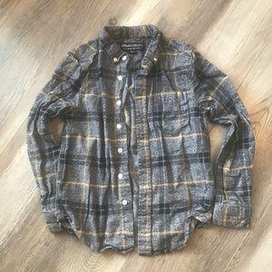 Boys Plaid Super-Soft Flannel Button-up